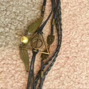 🦉Braided Leather Harry Potter Bracelet
